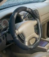 Luxury Memory Foam Steering Wheel Cover – Black