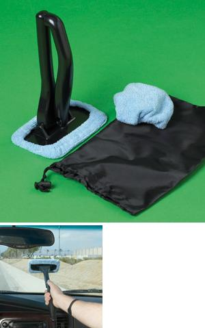 Windshield Cleaning Kit with Storage Pouch