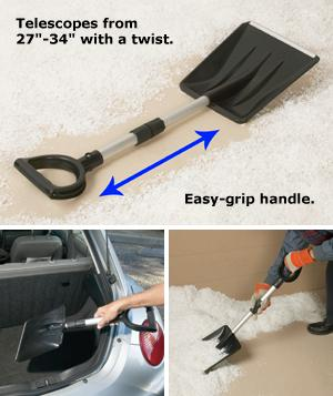 Snow Shovel with Telescoping Handle