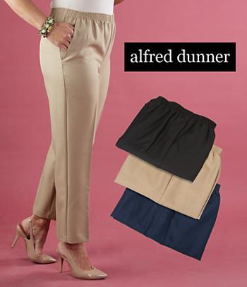 Alfred Dunner Gabardine Pants - Misses Short