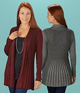 Open-Front Ribbed Cardigan - Each