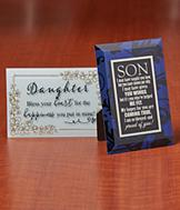 Daughter Glass Gift Plaque