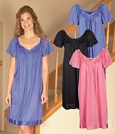 Exquisite Form Flutter Sleeve Nightgown - Rose