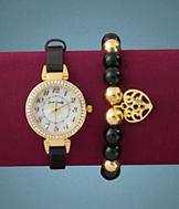 Sarah Coventry Watch and Bracelet Set