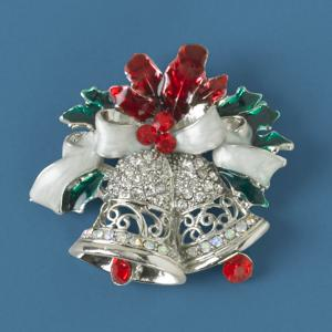 Holiday-Themed Bells Pin