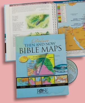 Deluxe Then and Now Bible Maps Book and CD