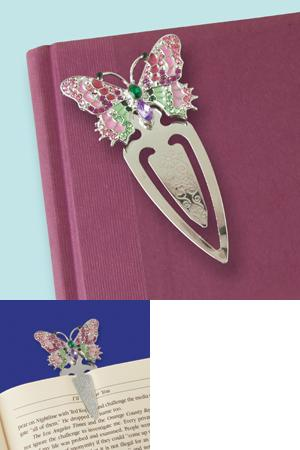 Bejeweled Butterfly Bookmark