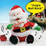 Jingle Bell Rock Santa Plush