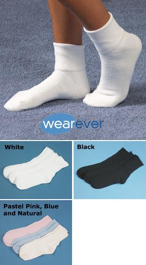 Wearever Women's All-Cotton Ankle Socks - 3 Pairs