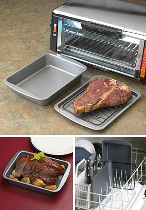 Countertop Oven Bakeware : toaster oven bakeware sized especially for use in your toaster oven ...