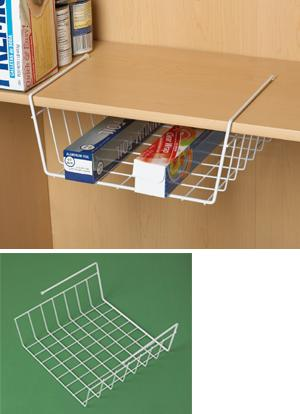 Under-Shelf Wrap Organizer