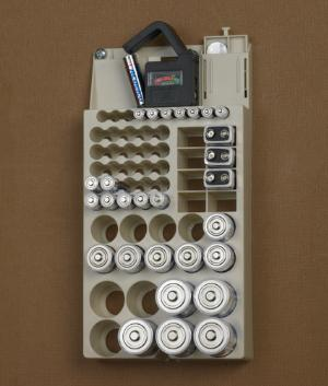 Battery Organizer And Tester