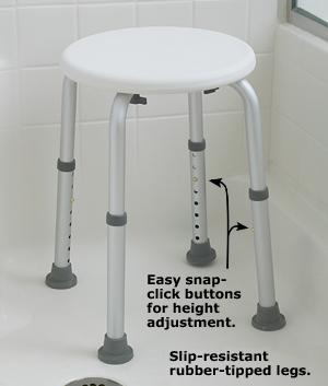 Carex Compact Shower Stool - Mobility & Support - Health ...
