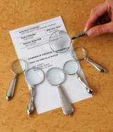 Six Hand-Held Magnifiers in Graduated Strengths
