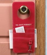 Doorknob Pocket Reminder