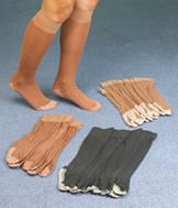 Cotton-Soled Knee Hi's - 4 Pairs