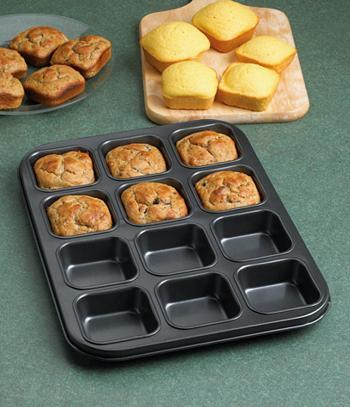 Square-Muffin Baking Pan