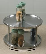 Stainless 2-Tier Lazy Susan
