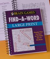 Brain Games Find-a-Word Large Print Book