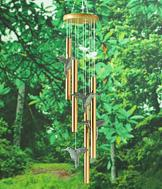Pewter Hummingbird Wind Chime