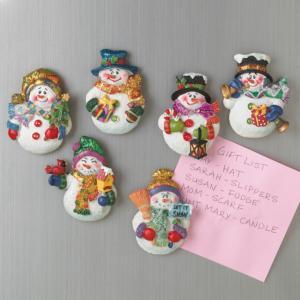 Snowman Magnets - Set of 6