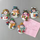 Snowman Magnets - Set of 6