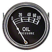 ABC005 - Universal Oil Pressure Gauge (0 - 80 PSI)