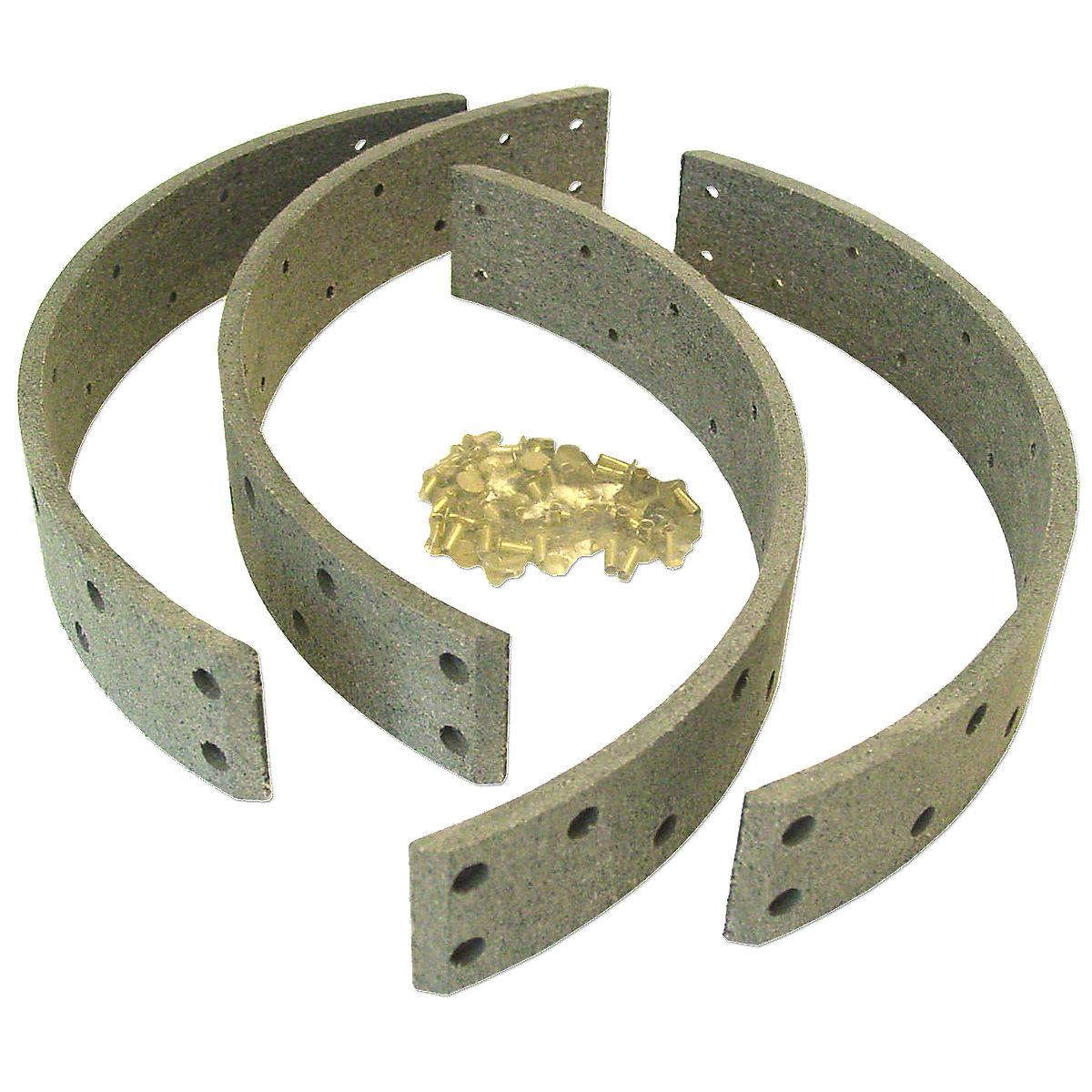 Brake Shoe Rivets : Abc brake lining set with rivets