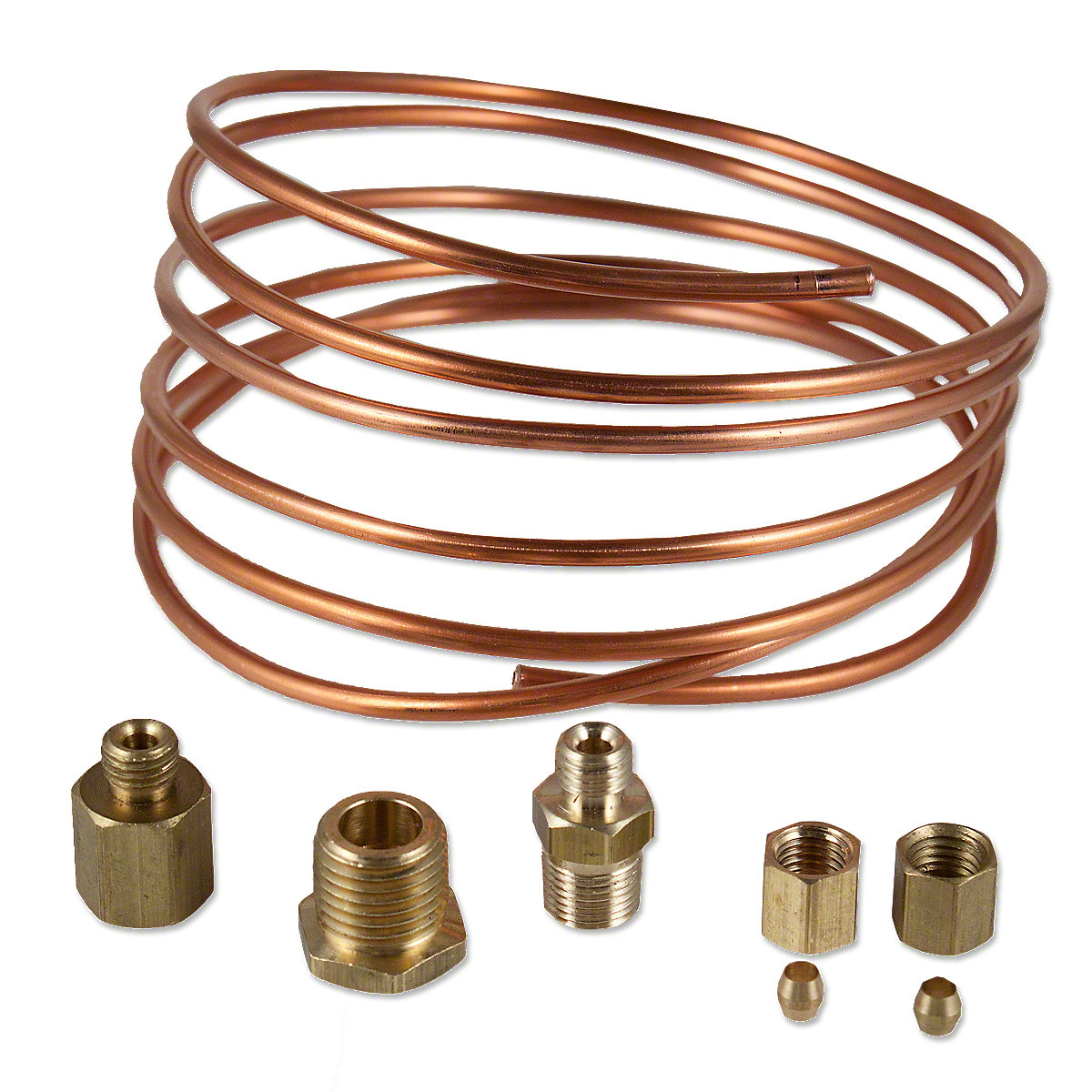 how to connect copper pipe to a pressure gauge