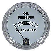 ACS160 - Oil Pressure Gauge, White Face (0-45 PSI)