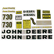 DEC036 - JD 730 Diesel: Mylar Decal Set
