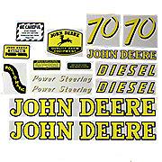 DEC042 - JD 70 Diesel: Mylar Decal Set