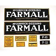DEC069 - Farmall F-12: Mylar Decal Set