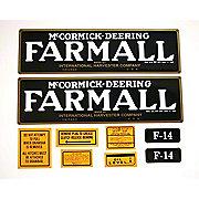 DEC070 - Farmall F-14: Mylar Decal Set