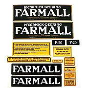 DEC071 - Farmall F-20: Mylar Decal Set