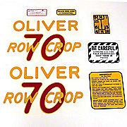 DEC154 - Oliver 70 Rowcrop: Mylar Decal Set