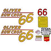 DEC160 - Oliver 66 Rowcrop: Mylar Decal Set