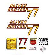 DEC162 - Oliver 77 Rowcrop: Mylar Decal Set