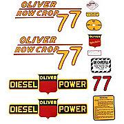 DEC163 - Oliver 77 Rowcrop Diesel: Mylar Decal Set