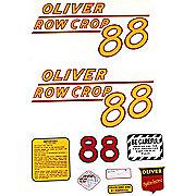 DEC164 - Oliver 88 Rowcrop: Mylar Decal Set