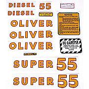 DEC170 - Oliver Super 55 Diesel: Mylar Decal Set