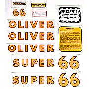DEC171 - Oliver Super 66: Mylar Decal Set