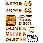 DEC172 - Oliver Super 66 Diesel: Mylar Decal Set