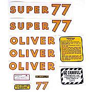 DEC173 - Oliver Super 77: Mylar Decal Set