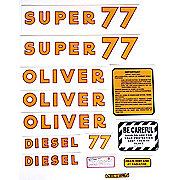 DEC174 - Oliver Super 77 Diesel: Mylar Decal Set