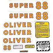 DEC175 - Oliver Super 88: Mylar Decal Set