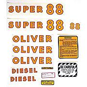 DEC176 - Oliver Super 88 Diesel: Mylar Decal Set