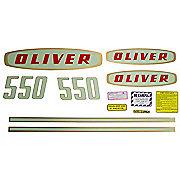 DEC177 - Oliver Early 550 Gas: Mylar Decal Set