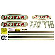 DEC181 - Oliver Early 770 Gas: Mylar Decal Set
