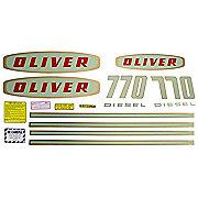 DEC182 - Oliver Early 770 Diesel: Mylar Decal Set